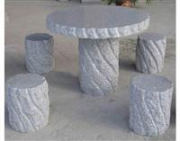natural stone granite table & chair
