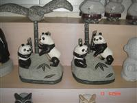 panda granite animal sculpture