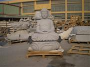 budda granite head sculpture