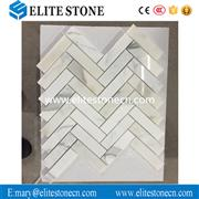 Calacatta Gold 1x4 Herringbone Mosaic Tile Polished - Marble from Italy
