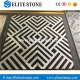 Hotel Hall Decoration Unique Design Black And White Marble Waterjet tile