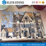 castle marble Mosaic Wall Art Murals Cheap Price