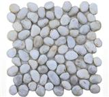 White pebble floor tile