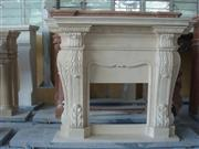 Hand Carving Fireplace Frame