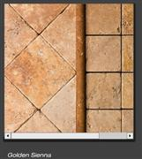 Golden Sienna Tumbled Travertine