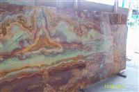 Translucent Multicolor Onyx Glass Slabs
