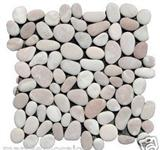Mixed pebble mosaic tiles