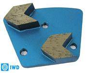 Arrow shaped Diamond Grinding Plates / shoes