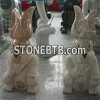 Dinglei Rabbit Stone Sculpture