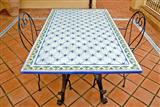 Basalto di Etna Inlay Rectangular Table