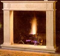 Fireplace- yellow sandstone