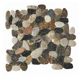 Mixed flat pebble tile