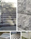 Granite landscaping, stairs, wall covering