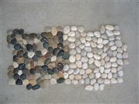 pebble stone black and white river stone