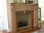 Fireplaces in Marble, Travertine, Limestone
