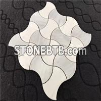 Grey And White Mosaic Tiles78