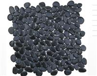Black pebble floor tile