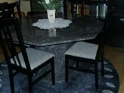 Dining Table in Visag Blue 20 mm Granite