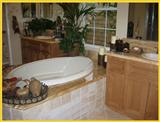 Bathroom remodelling, travertine flooring