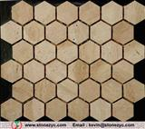 tumbled mixed travertine stone mosaic tile