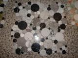 Mosaic Black and Bianco Carrara marble