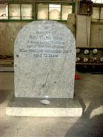 Viscount White Granite Headstone