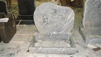 Viscount White Granite Tombstone