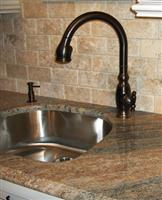 Granite countertop with undermount sink