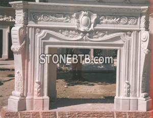 China White Marble Fireplace