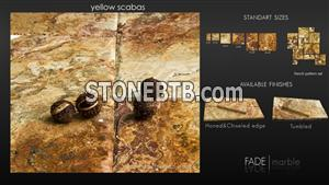 Yellow Scabas Travertine French Pattern Set Pave