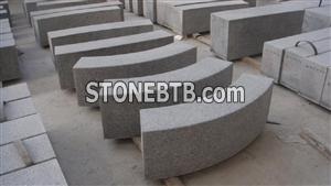 Grey Granite Curved Kerbstone