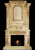 Custom fireplace, Marble Fireplace