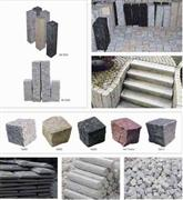 Paving stones, Cubic granite, Kerb, wall callding