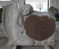 Single Angel Tombstone