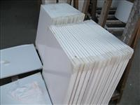White crystallized glass tiles