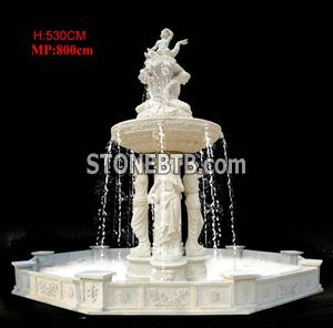 Fountain with Beige Marble