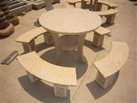 landscaping stone bench & table