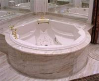 Afyon Sugar Marble Bathtub Surround