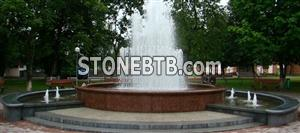 Fountain of Ukrainian granite