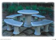 Granite stone table set