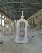 White marble chapel
