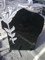 Flower Carved Headstone