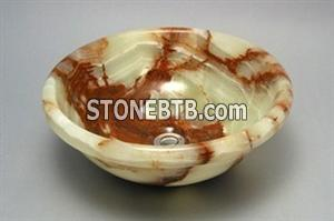 green onyx bathroom sink, brown onyx bathroom sink