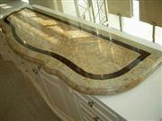 marble mosaic table pattern