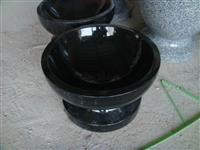 black granite animal bowl,animal feeding bowl