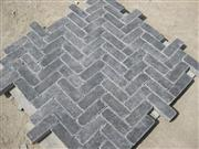 tumbled bluestone paving