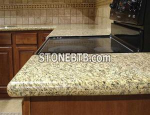 yellow granite kitchen top