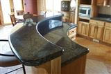 Green granite kitchen top