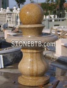 Stone Marble Granite Fountain Ball Landscaping Stone