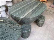 Stone Granite Table and Chair Landscaping Stone